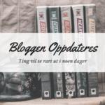 Bloggen oppdateres